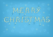 Merry Christmas. Country font Royalty Free Stock Photography
