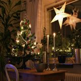 Merry Christmas!. A cozy christmas decorated living room Royalty Free Stock Photos