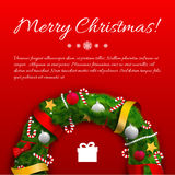 Merry Christmas creative background. Royalty Free Stock Photo