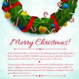 Merry Christmas creative background. Royalty Free Stock Image