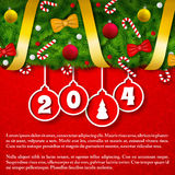 Merry Christmas creative background. Royalty Free Stock Images