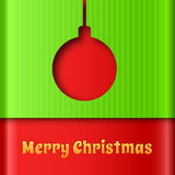 Merry Christmas creative background. Stock Image