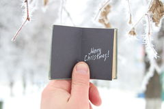 Merry Christmas creative concept Stock Images