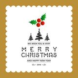 Merry Christmas creative design with typography vector. This Vector EPS 10 illustration is best for print media, web design, application design user interface stock illustration