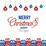 Merry Christmas creative design with white background vector. This Vector EPS 10 illustration is best for print media, web design, application design user royalty free illustration