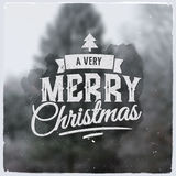 Merry Christmas creative graphic message for Stock Photos