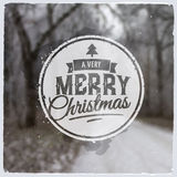 Merry Christmas creative graphic message for Royalty Free Stock Photos