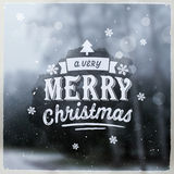 Merry Christmas creative graphic message for Stock Image