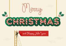 Merry Christmas creative greeting card Royalty Free Stock Photo