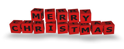 Merry Christmas Cubes Royalty Free Stock Images