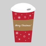 Merry Christmas Cup Stock Photo
