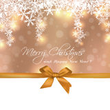 Merry Christmas cute gift greeting card Royalty Free Stock Image