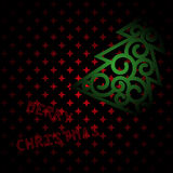 Merry christmas dark red card Stock Images