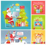 Merry Christmas. Dear Santa Fast Delivery Presents Royalty Free Stock Image