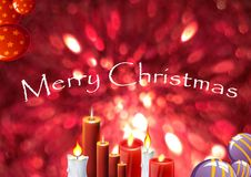 Merry Christmas in the World. Merry christmas decoration as colored background Royalty Free Stock Photo