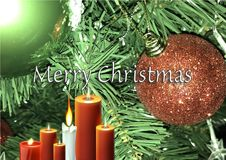 Merry Christmas in the World. Merry christmas decoration as colored background Royalty Free Stock Photography