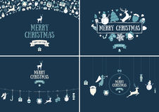 Merry Christmas decoration and card design. Happy New Year desig Royalty Free Stock Images