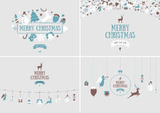 Merry Christmas decoration and card design. Happy New Year desig Royalty Free Stock Photography