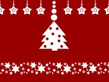 Merry Christmas decoration clean design Stock Images