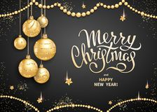Merry Christmas decoration 2019 stock illustration
