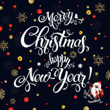 Merry Christmas 2017 decoration poster card Stock Photo
