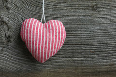 Merry Christmas Decoration Red Stripes Fabric Heart Royalty Free Stock Images