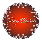 Merry Christmas Decoration with white snow icons Stock Photos