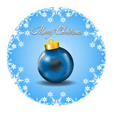 Merry Christmas Decoration with white snow icons a Royalty Free Stock Photo