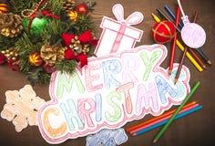 Merry Christmas decoration Stock Image
