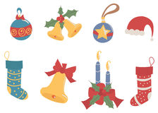 Merry Christmas decorations Stock Images