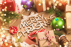 Merry Christmas decorations Royalty Free Stock Image