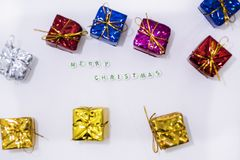 Merry Christmas decorations. stock photography