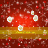 Merry Christmas decorative background stock photo