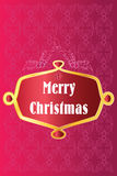 Merry Christmas decorative. Card design with retro floral elements at background Royalty Free Stock Photo
