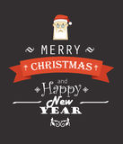 Merry Christmas decorative card Stock Photo