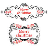 Merry christmas decorative design elements Royalty Free Stock Photography