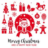 Merry christmas decorative greeting card vector illustration