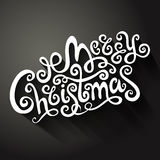 Merry Christmas decorative hand drawn card Royalty Free Stock Image