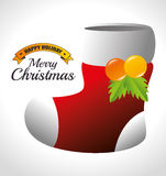 Merry christmas decorative stuffs and pine tree. Design, vector illustration eps 10 Royalty Free Stock Image