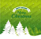 Merry christmas decorative stuffs and pine tree. Design, vector illustration eps 10 Stock Photography