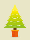 Merry christmas decorative stuffs and pine tree. Design, vector illustration eps 10 Royalty Free Stock Photos
