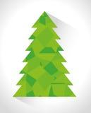Merry christmas decorative stuffs and pine tree Stock Photos
