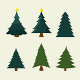 Merry christmas decorative stuffs and pine tree Stock Image