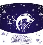 Merry Christmas deer Stock Images