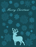 Merry Christmas deer Royalty Free Stock Photos