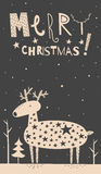 Merry Christmas deer card Royalty Free Stock Photography