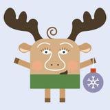Merry Christmas deer Stock Image