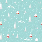 Merry christmas deer, Happy New Year, seamless pattern Stock Image
