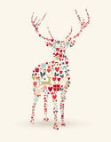 Merry Christmas deer illustration Stock Images