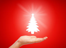 Merry christmas design. With christmas tree Royalty Free Stock Photo